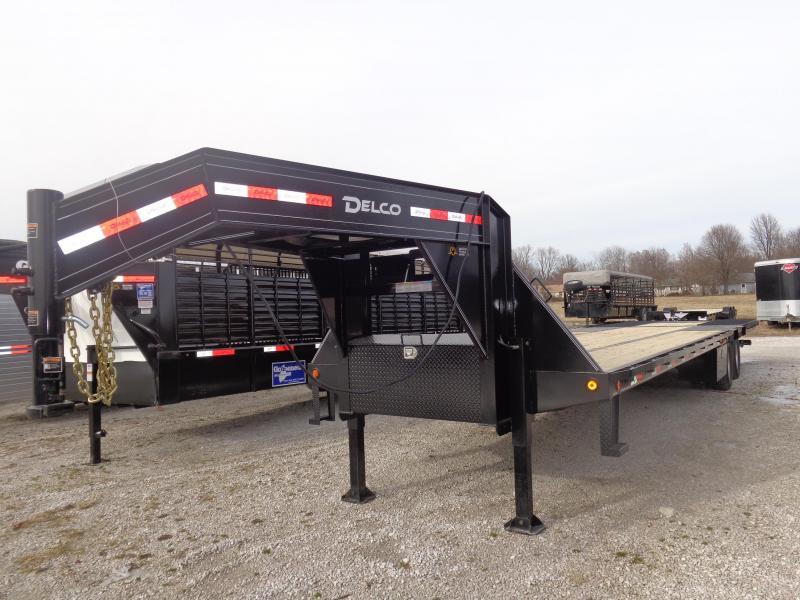 2019 Delco 34' Gooseneck Hydraulic Dovetail