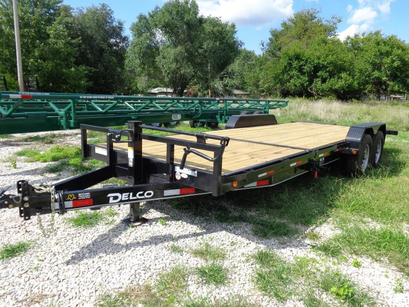 Delco  16'+6' Bumper Pull 14000# Partial Tilt Flatbed Trailer