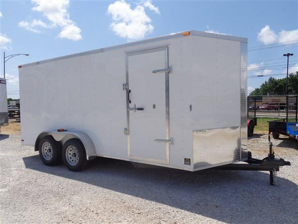 2019 Box Cargo 7' x 16' Bumper Pull Enclosed Box Cargo Trailer