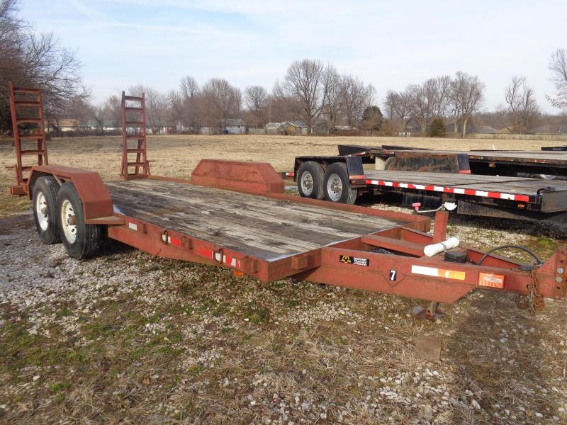 USED 2000 Rice 20' Flatbed Equipment Trailer