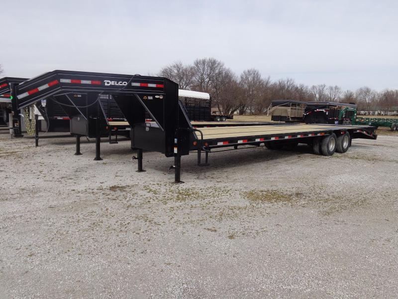 """Delco"" 102"" x 27'+5' Low Pro Monster Ramps Gooseneck Deckover Trailer"