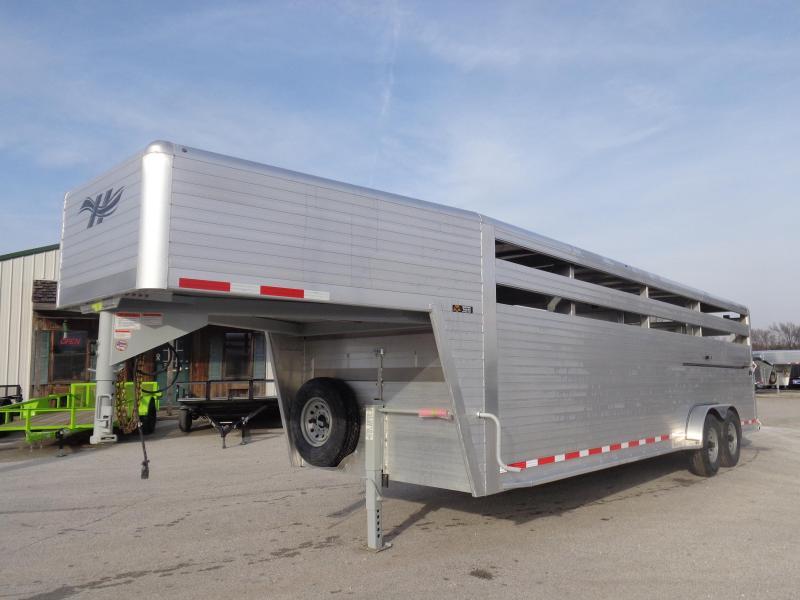 2020 Hillsboro 26' x 7' Endura Aluminum Gooseneck Livestock Trailer