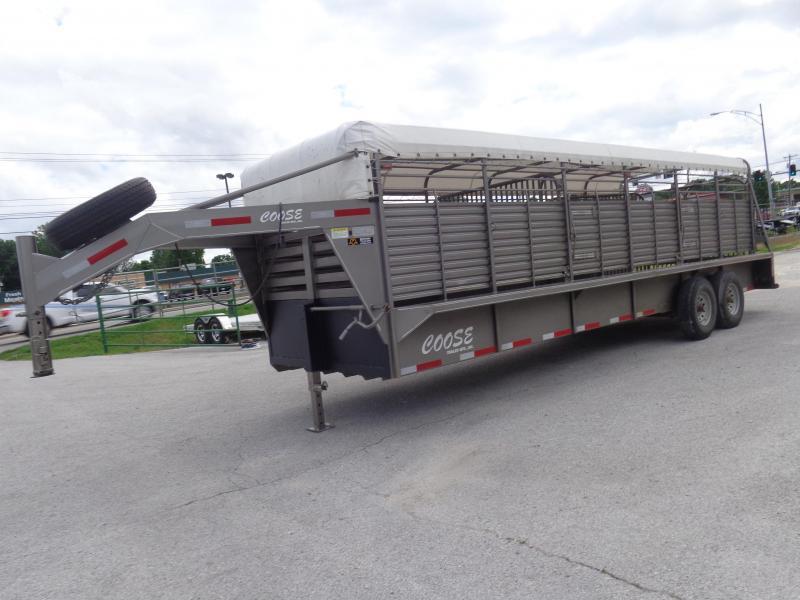 USED 2015 Coose 24' x 6'8 Gooseneck Livestock Trailer