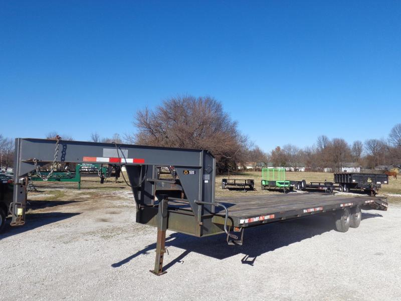 USED 2003 Blue Diamond 24'+6' Gooseneck Flatbed Equipment Trailer