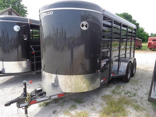 Delco 16' x 6' Bumper Pull Stock Powder Coated Dark Gray