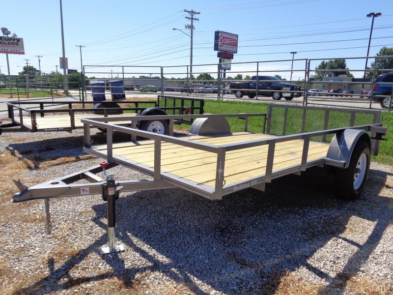 Bulldog 76 x 10'+2' Dovetail Gray Utility Trailer