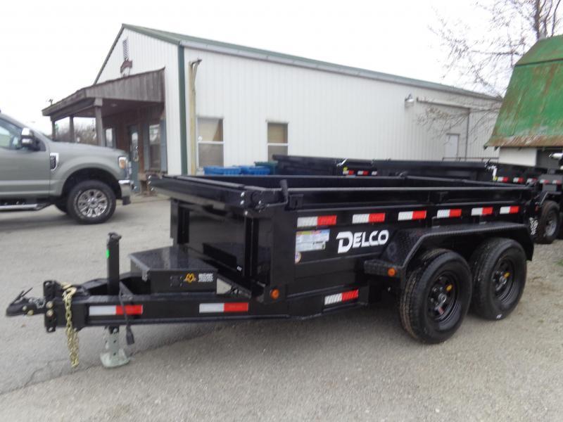 Delco 60 x 10' Bumper Pull 7000# Dump Trailer
