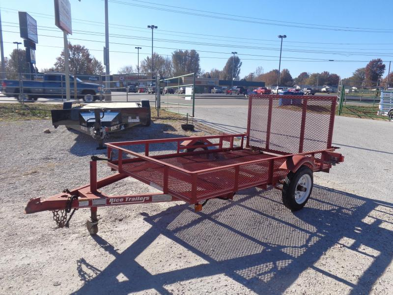 USED 2007 Rice 5 x 8 Utility Trailer