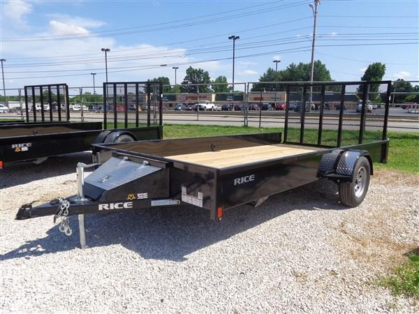 Rice 76 x 12' Stealth Bumper Pull Black Utility Trailer