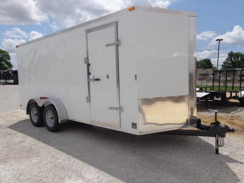 Box Cargo 7' x 16' Bumper Pull Enclosed Cargo Trailer