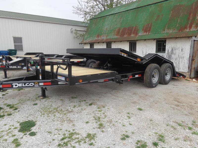 Delco 102 x 16'+6' Bumper Pull 14000# FULL WIDE FLOOR Partial Tilt