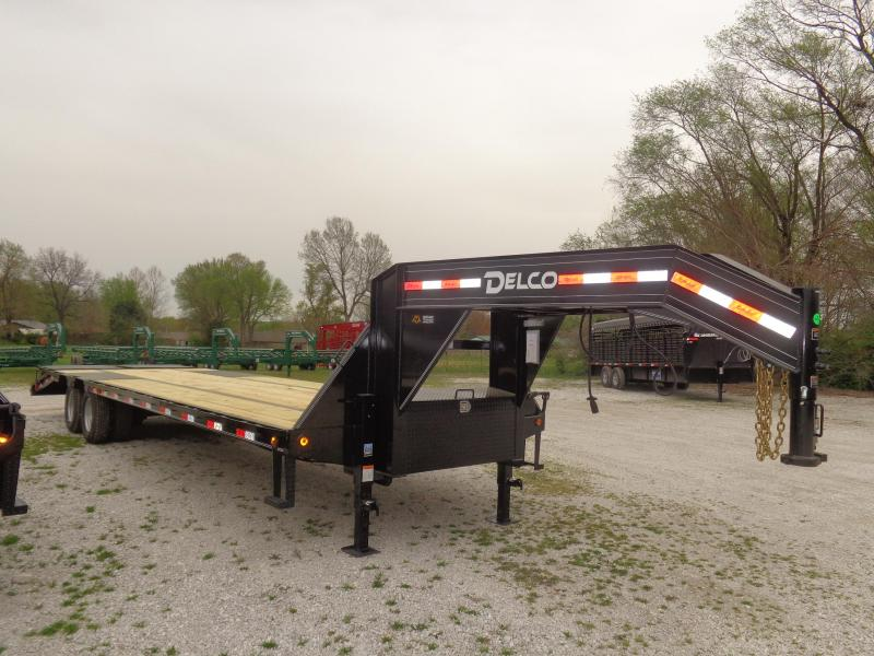 "Delco 102"" x 27'+5' Gooseneck 20000 Deckover Equipment Trailer"
