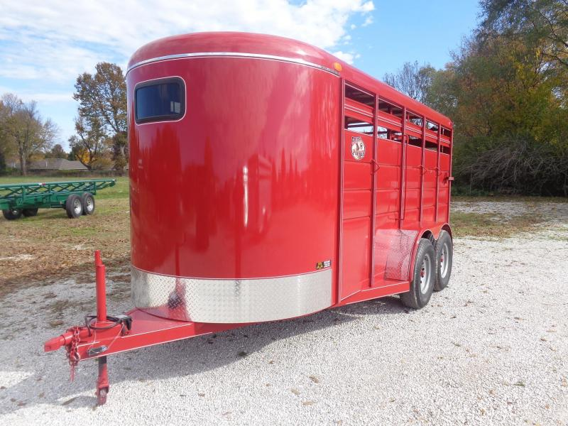2019 16' x 6'  Brush Popper Bumper Pull Livestock Trailer