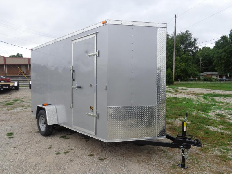 Box Cargo 6' x 12' Diamond Ice Bumper Pull Enclosed Cargo Trailer