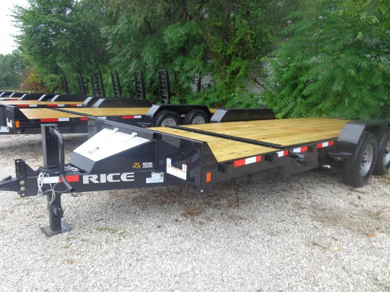 Rice 16'+4' Bumper Pull 14000# Partial Tilt Heavy Duty Flatbed