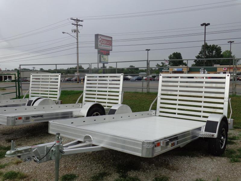 "Hillsboro 70"" x 12' Bumper Pull Aluminum Utility Trailer"