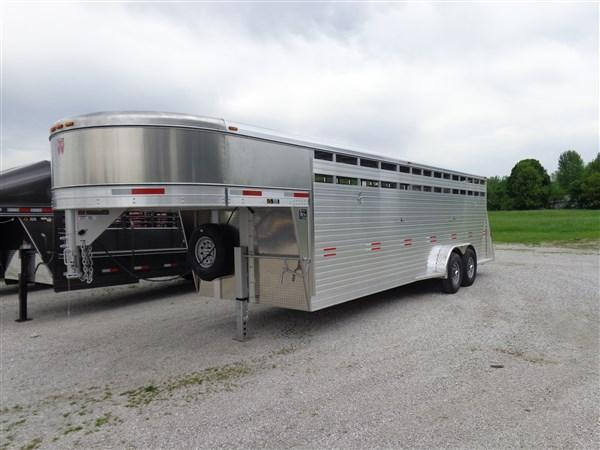 W-W 24' x 7' Bright Line Stockman Gooseneck Stock Trailer (LAST 2 AT THIS PRICE)