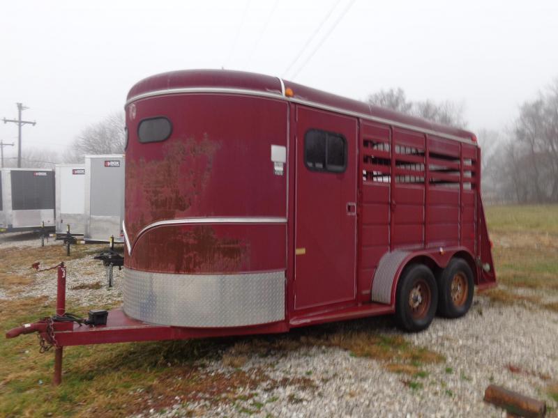 USED 2007 W-W 14' x 6' 2 Horse Slant