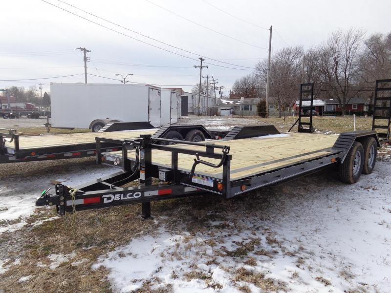 Delco 102 x 20'+2' Dovetail Bumper Pull 14000# Equipment Trailer