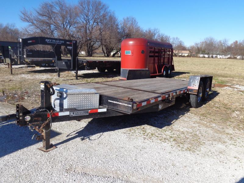 USED 2009 KIEF 16'+4' Bumper Partial Tilt Equipment Trailer