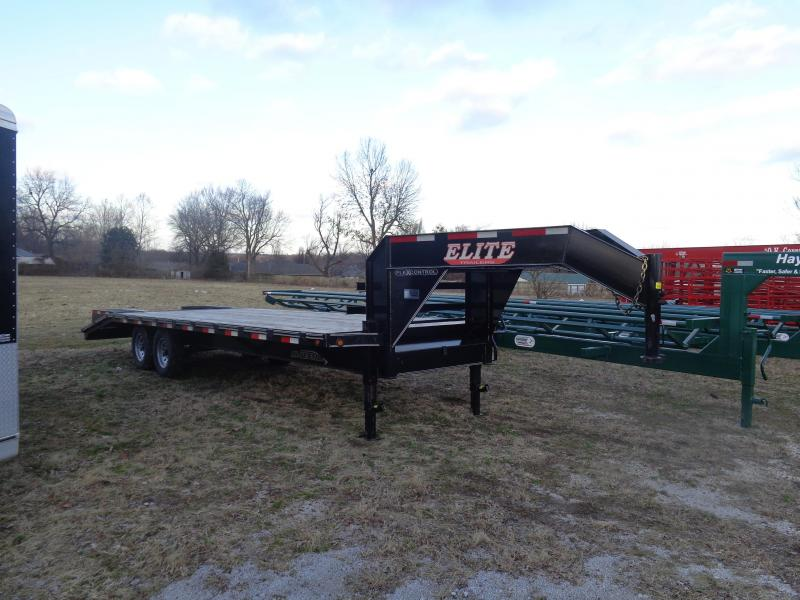 USED 2018 Elite 20'+5' Gooseneck Equipment Trailer