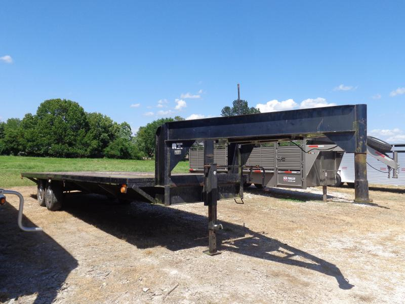 USED 1991 W-W  Gooseneck Deckover Equipment Trailer