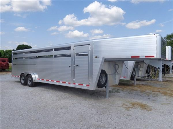 2020 Hillsboro 26' x 7' Endura Aluminum Gooseneck Stock Trailer (FACTORY DISCOUNT THROUGH MARCH 22nd)