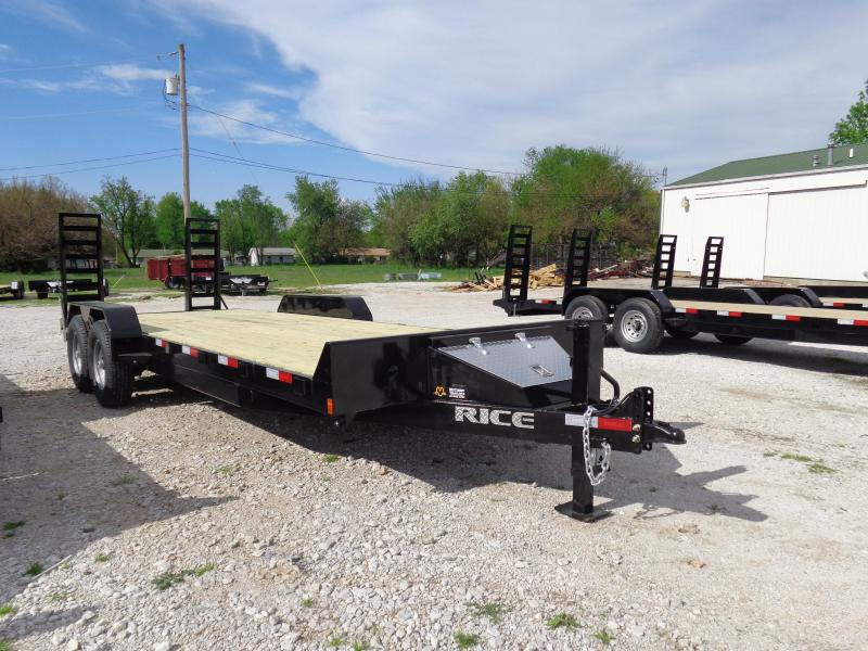 Rice 82 x 18'+2' 14000# Bumper Pull Flatbed Equipment Trailer