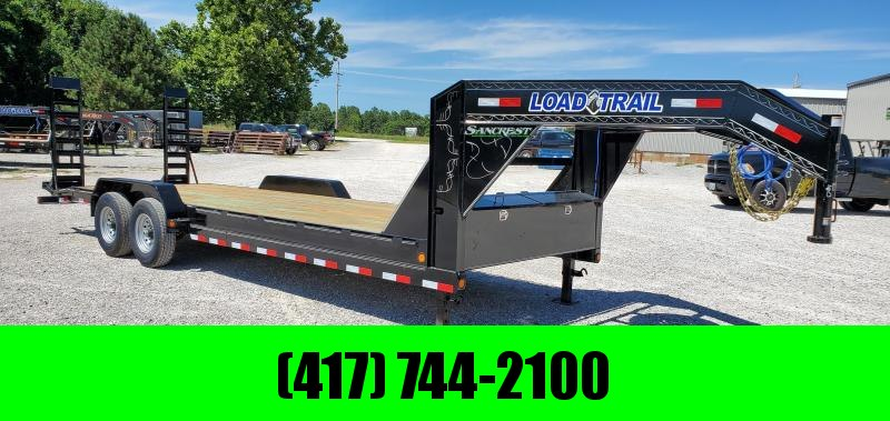 2020 LOAD TRAIL 83X24(22+2) TANDEM 14K GOOSENECK CAR HAULER W/STAND UP RAMPS