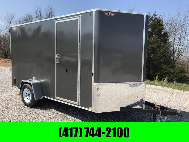 "2019 H&H 6X12 SINGLE AXLE CHARCOAL METALLIC CARGO W/6'6"" HEIGHT"