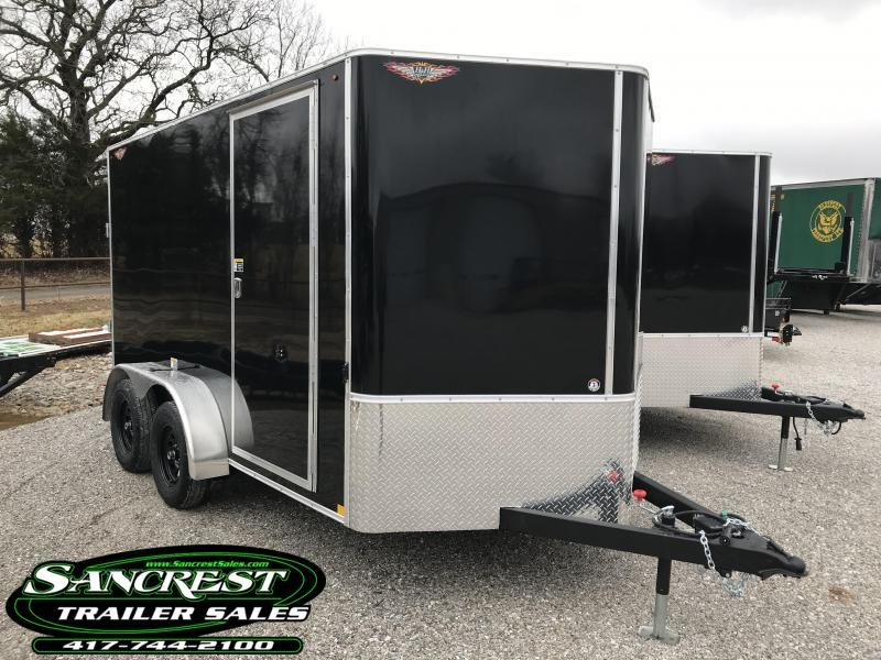"2019 H&H TANDEM BLACK Enclosed Cargo Trailer W/6'6"" HEIGHT"