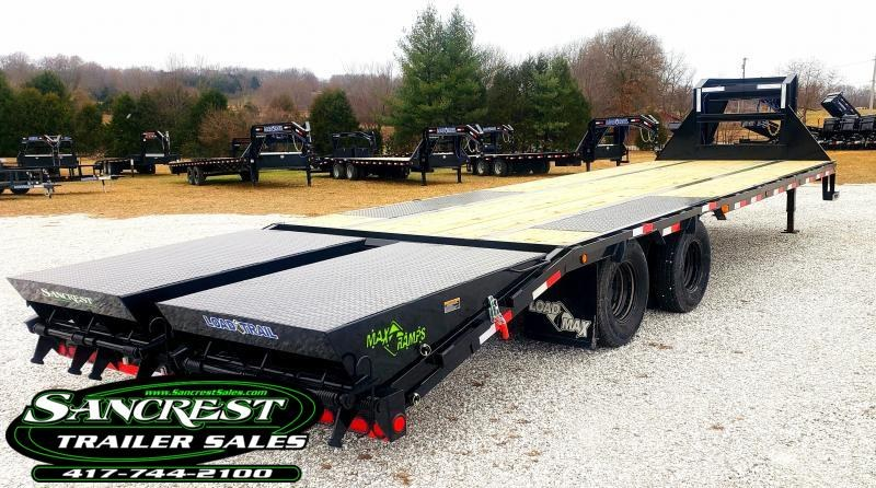 "2019 Load Trail 102"" x 28' Tandem LOW-PRO Gooseneck W/ MAX RAMPS"