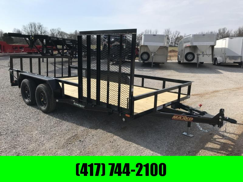 "2019 MAXXD 83X16 U3X TANDEM UTILITY W/2' DOVETAIL/4'SPRING GATE AND 52""X4' SIDE SPRING GATE(WET BLACK)"