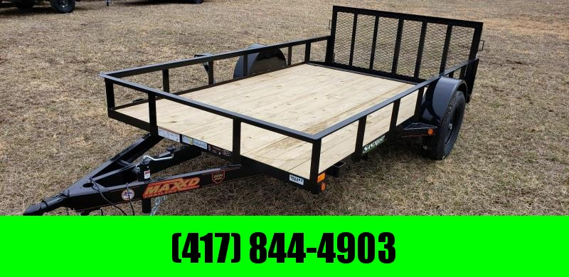 """2019 MAXXD 77 X 12 SINGLE AXLE UTILITY WITH 2' STEEL DOVETAIL AND 30"""" SPRING GATE"""