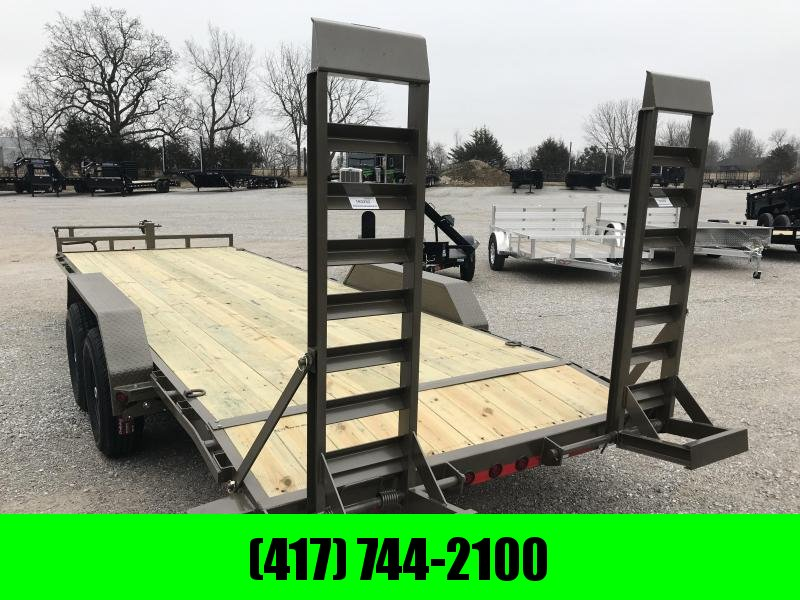 2019 Load Trail 83x22 WESTERN METALLIC Equipment Trailer w/7k axles and flip ramps