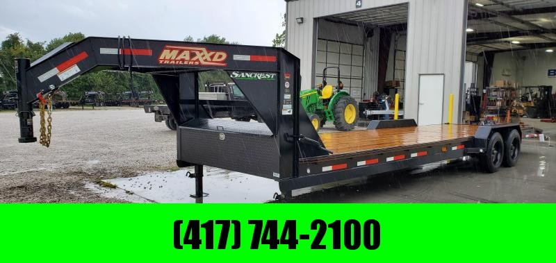 2019 MAXXD 83X28(26+2) TANDEM GOOSENECK EQUIPMENT HAULER W/8K AXLES(17.5/16PLY)