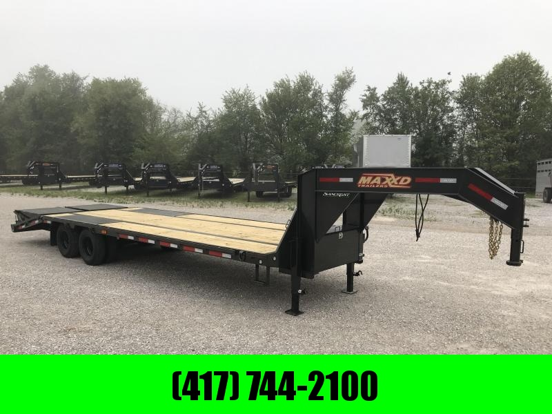 2019 MAXXD 102X28 TANDEM LO-PRO GOOSENECK W/10K AXLES & MAXXD OUT RAMPS