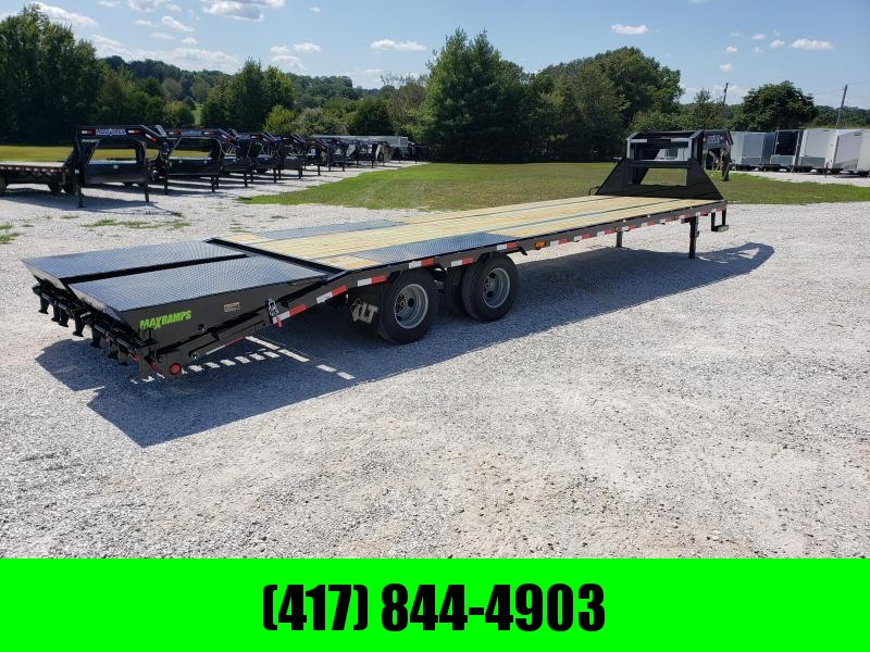 "2020 Load Trail 102"" x 30' Tandem Low-Pro Gooseneck W/ MAX RAMPS"