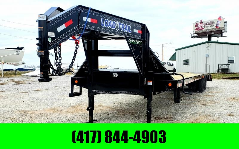 2019 Load Trail 102x40 LO-PRO Gooseneck Flatbed Trailer W/12K AXLES ADJ. RAT. RAIL MAX RAMPS DISC BRAKES