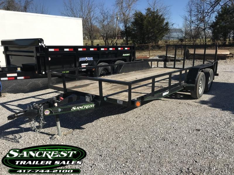2017 Load Trail 77x18 Utility Trailer w/2' dovetail 3' gate