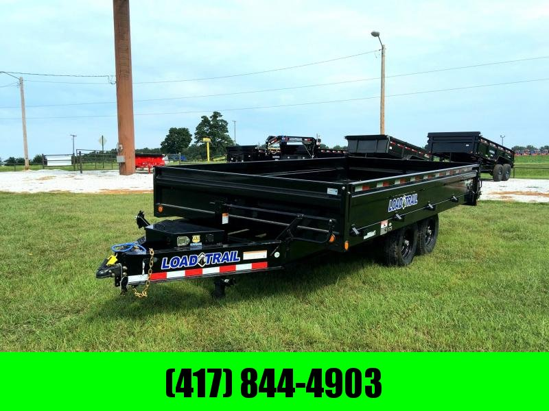 "2020 Load Trail 96"" x 16' Tandem Axle Pintle Hook Deck Over Dump Trailer"