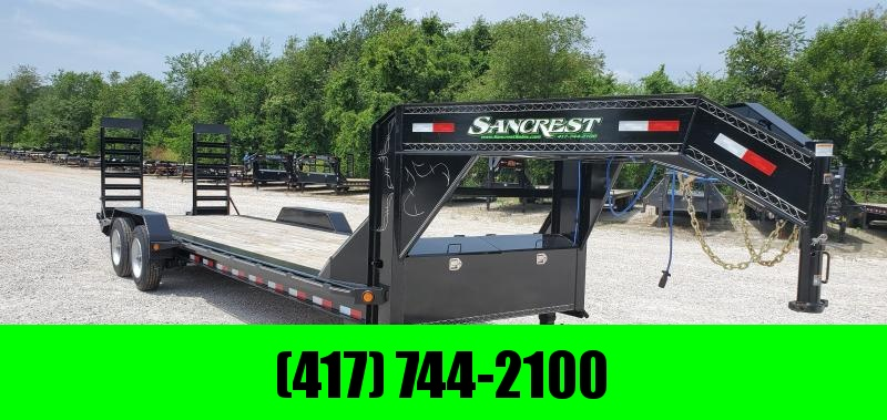 2018 LOAD TRAIL 82X26(24+2) TANDEM 20K GOOSENECK EQUIPMENT HAULER W/10K TORSION AXLES & EQ. RAMPS