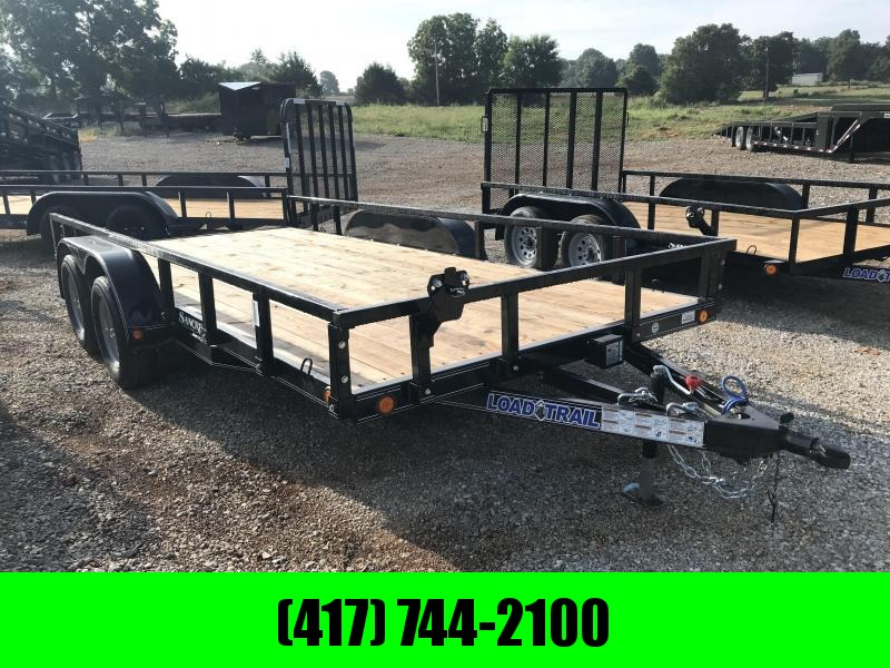 2018 Load Trail 83X16 TANDEM AXLE Utility Trailer w/REMOVABLE RAILING