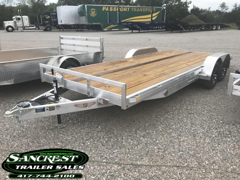 2019 H and H Trailer 82X20 CAR HAULER W/3500# AXLES/ALUM. RIMS AND SPARE TIRE MOUNT