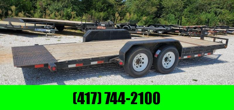 2014 PJ 83X20(16+4) TANDEM 14K BLACK GRAVITY TILT EQIPMENT TRAILER W/KNIFE EDGE & NEW TIRES
