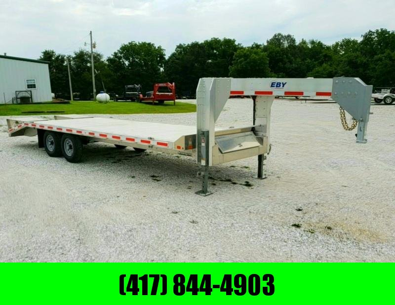2019 EBY 102 x 25  SINGLE-WHEEL GOOSENECK EQUIPMENT TRAILER
