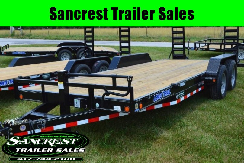 "2018 Load Trail 83""x20' with fold up ramps equipment flat bed"