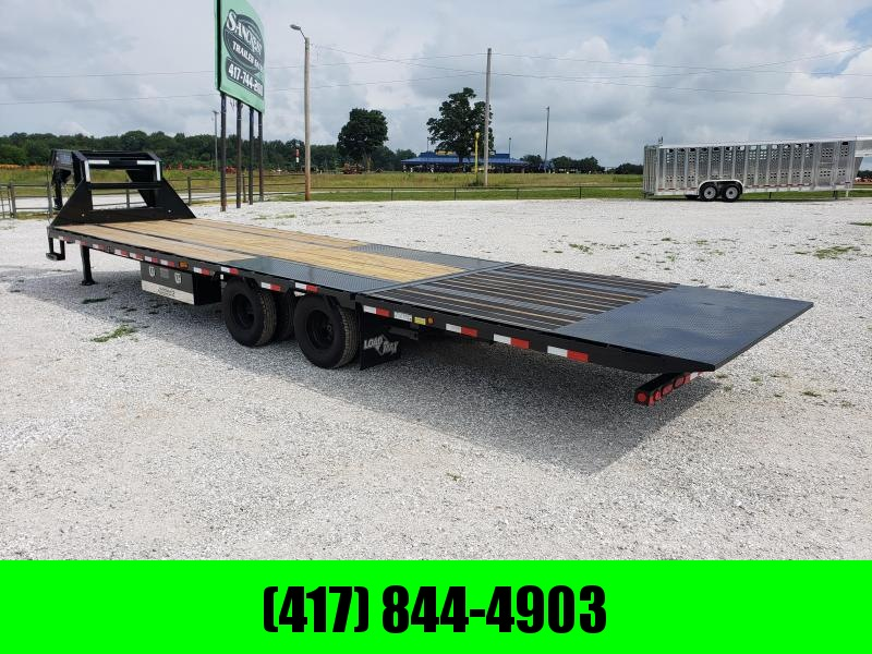 (USED 6 MONTHS )  2019 Load Trail 102X32 TANDEM LO-PRO GOOSENECK W/10K AXLES 10' HYDROTAIL HYDROJACKS