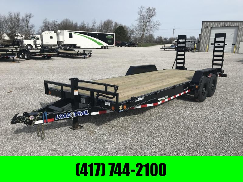2019 Load Trail 83X22 TANDEM Equipment Trailer W/7K AXLES ND FLIP UP RAMPS