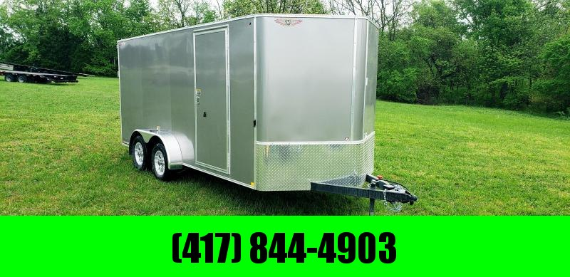"""2019 H&H 7 X 16 TANDEM PEWTER 7K CARGO W/6'6"""" HEIGHT"""
